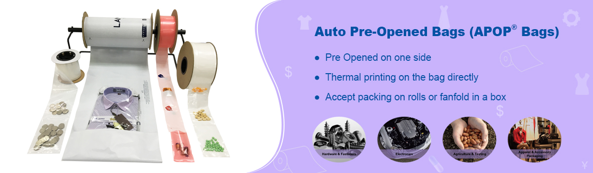 Applications of ADSURE AUTO PRE-OPENED ROLL BAG
