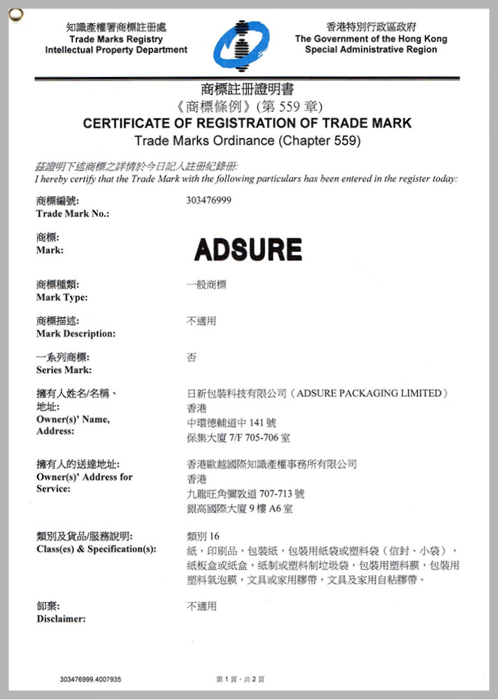 adsure trademark