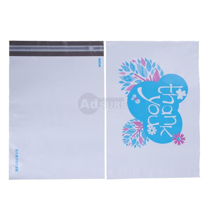 Blue Colored Thank You Design Poly Mailers