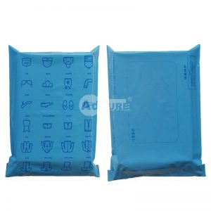 blue colored poly mailing bags