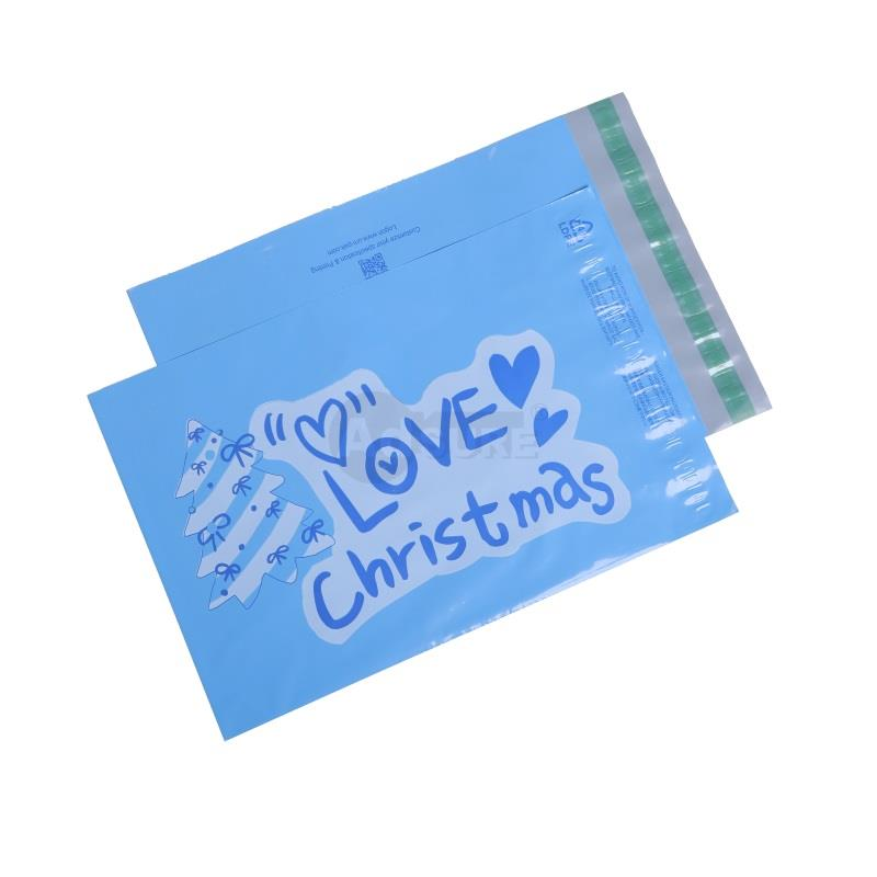christmas design poly mailers