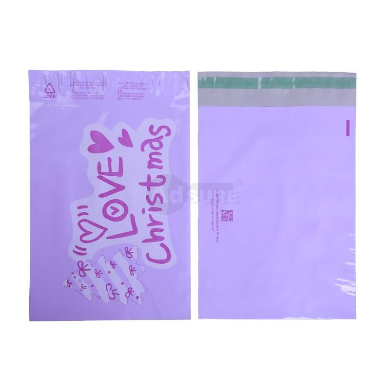 christmas poly mailing bags