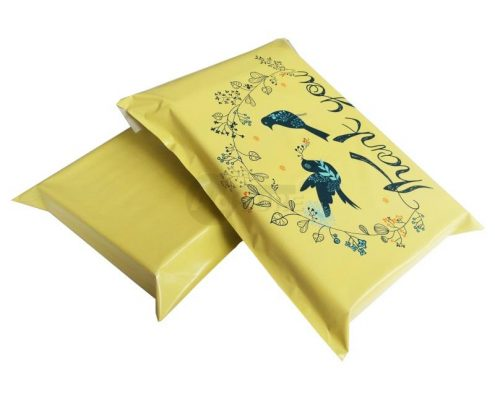 Yellow Bird Thank You Design Poly Mailers