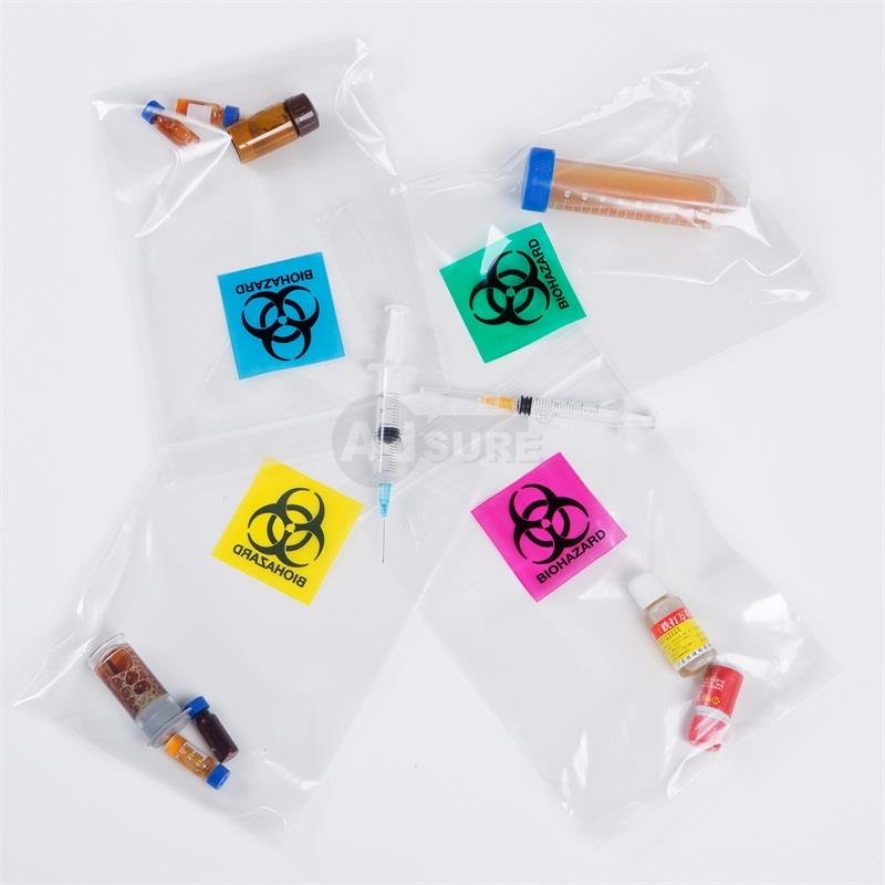 custom clear biohazard ziplock bags