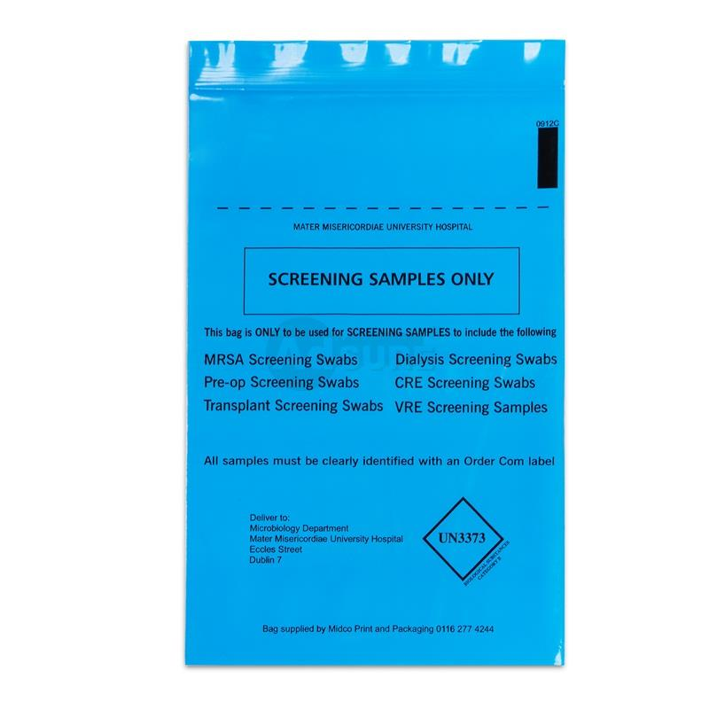 biohazard specimen sample bags