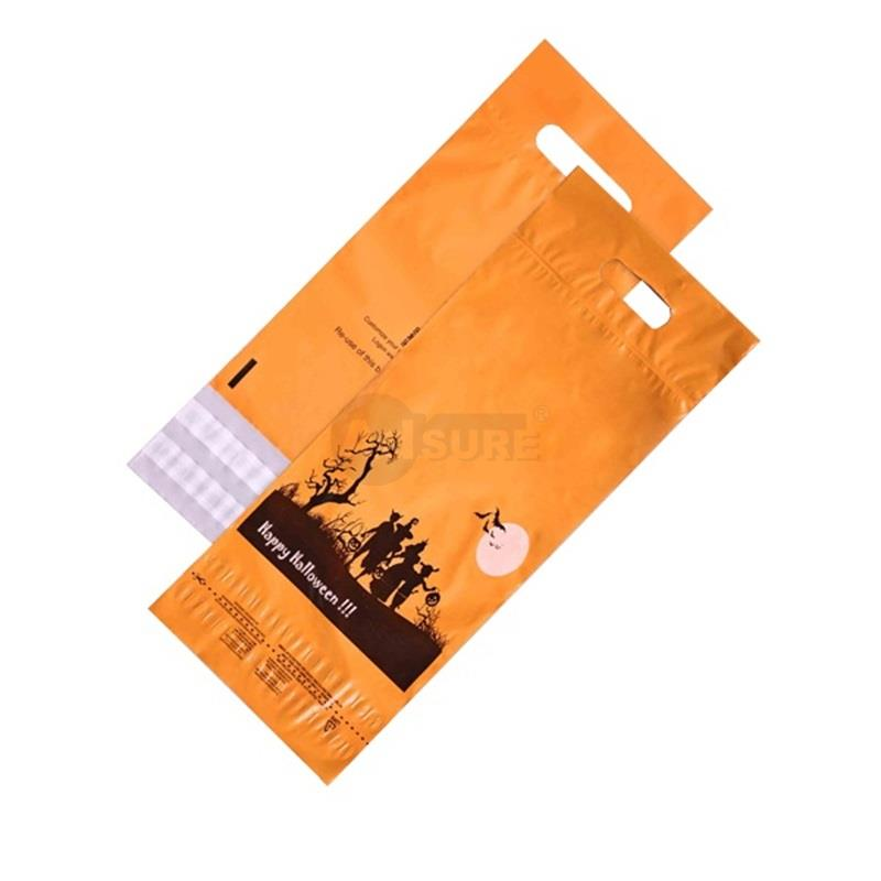 festival design returnable poly mailers with handle