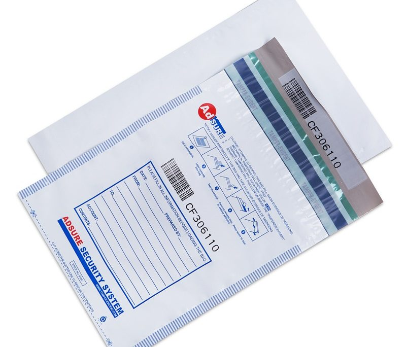 Level 4 security tamper evident security deposit bags