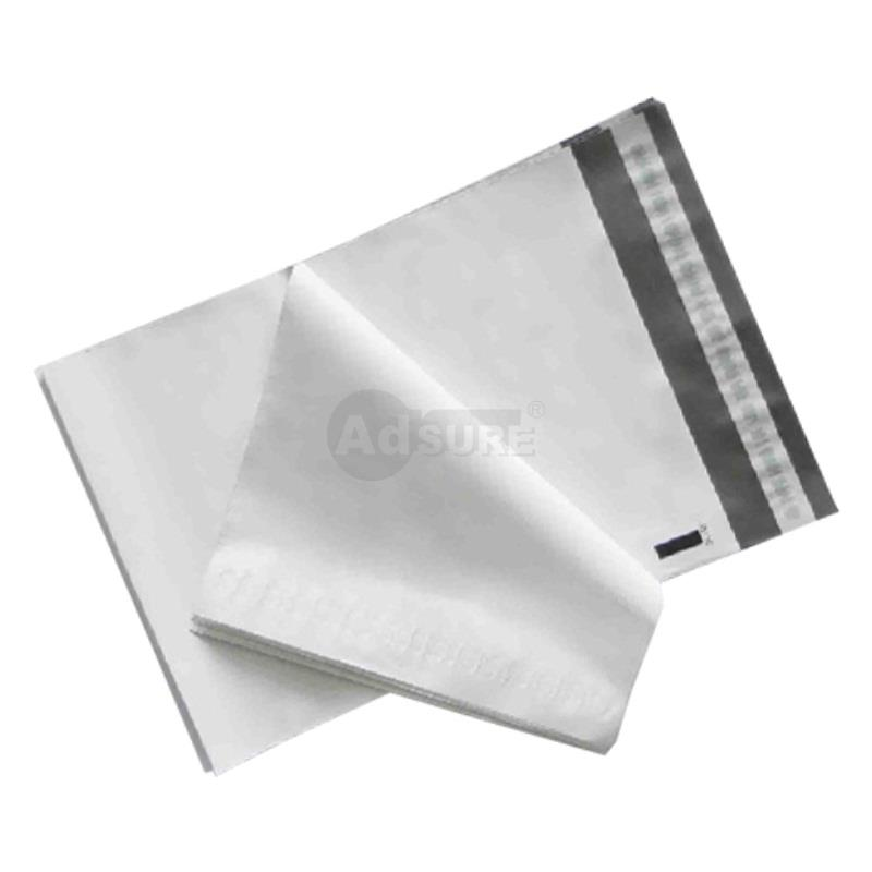 plain white poly mailers