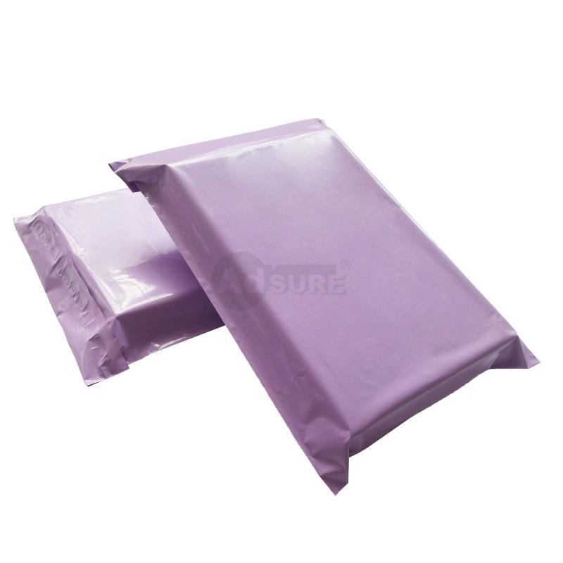 plain purple mailing bags