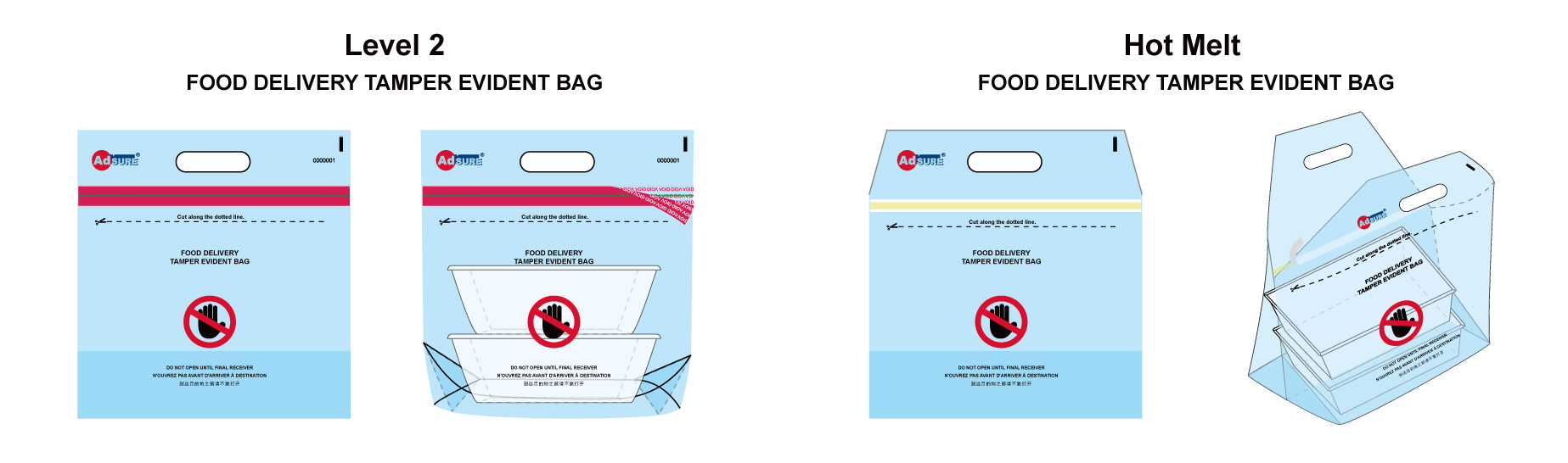 Tamper Evident Bags for Food Delivery and Restaurant