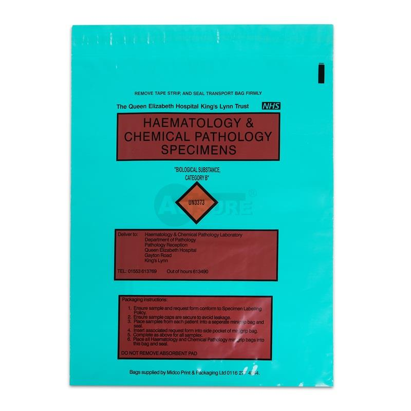 Specimen Bags for UN3373 Biological Substance