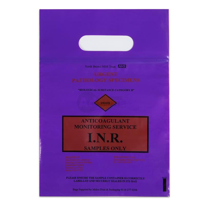 Specimen Ziplock Bags with Handle for UN3373 Biological Substance