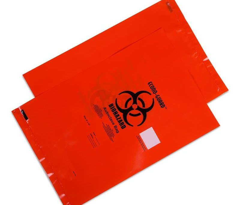 biohazard autoclavable bags with Indicator
