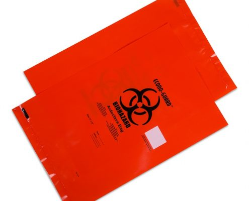 Autoclave Biohazard Bags with Sterilization Temperature Indicator Patch