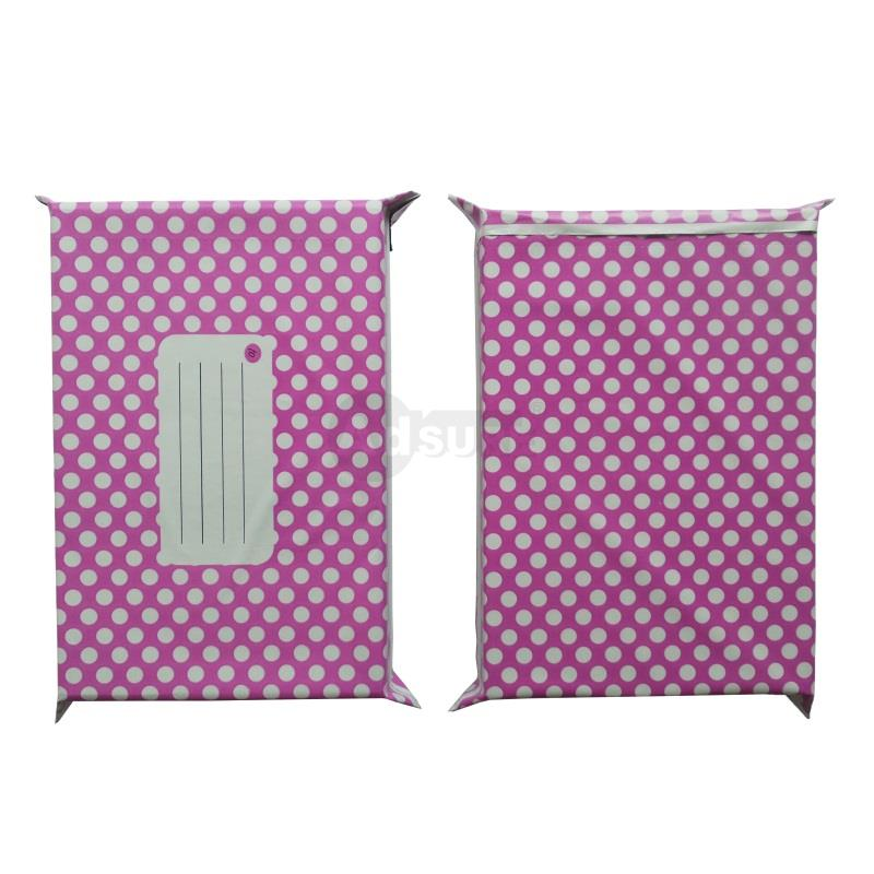 puple polka dot design courier bags