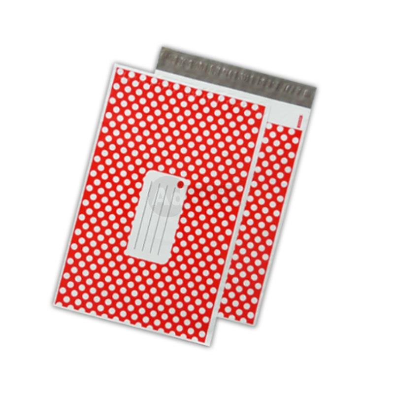 red polka dot desig poly bags