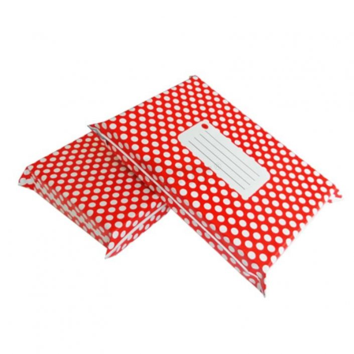 red polka dot desig courier bags