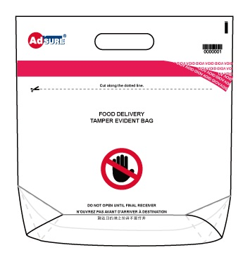 food delivery tamper evident bags
