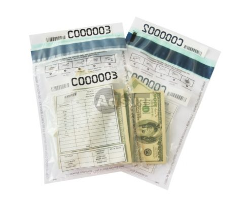 level 2 clear security bank deposit cash bags