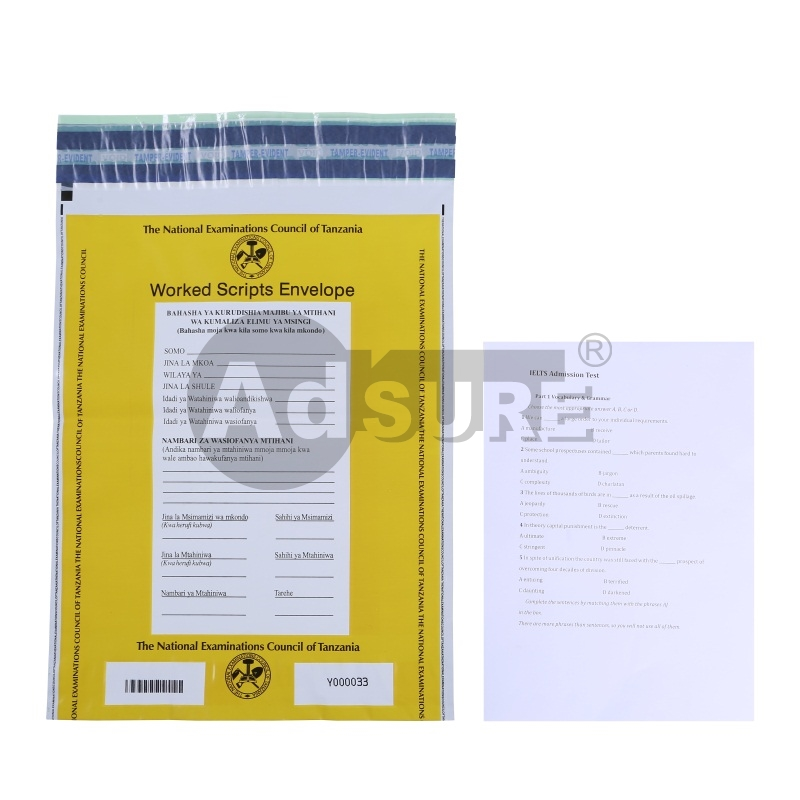 Security Confidential Document Bags