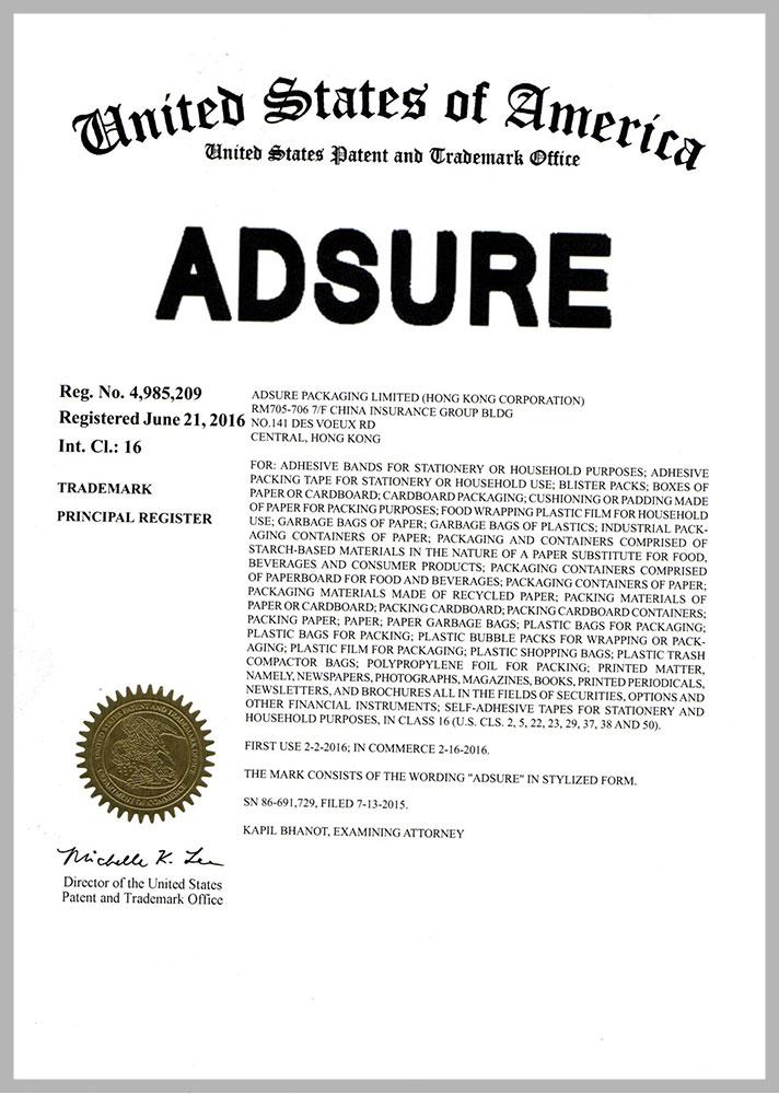 adsure trademark