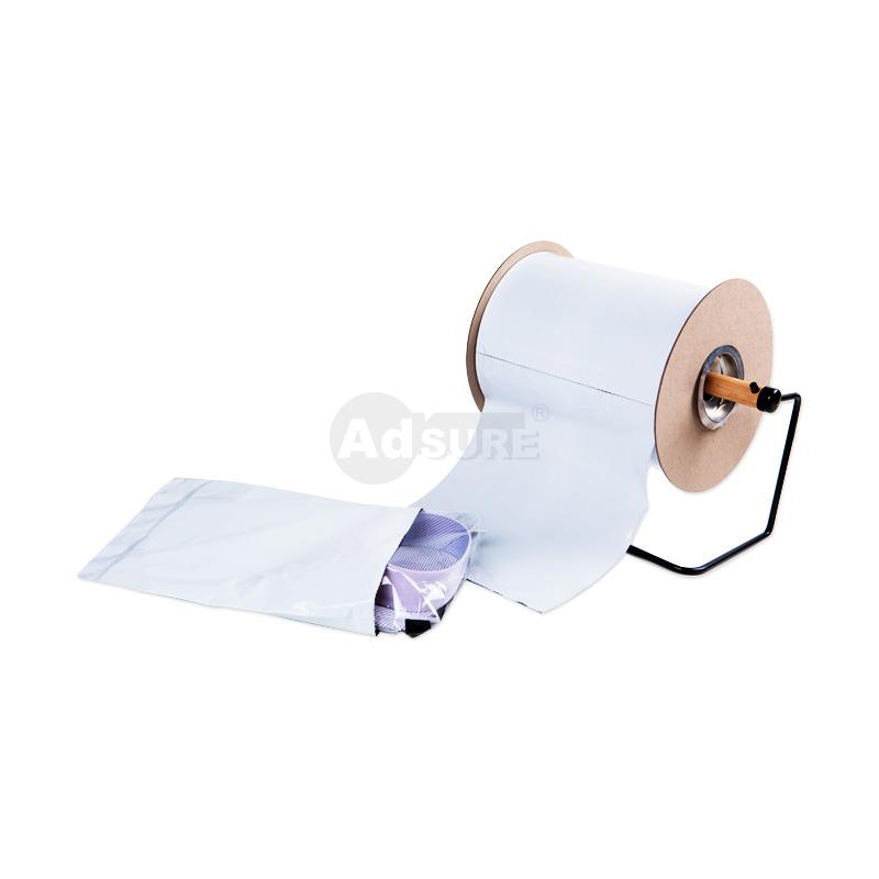 Plain White Opaque Pre-opened Auto Bag on a Roll