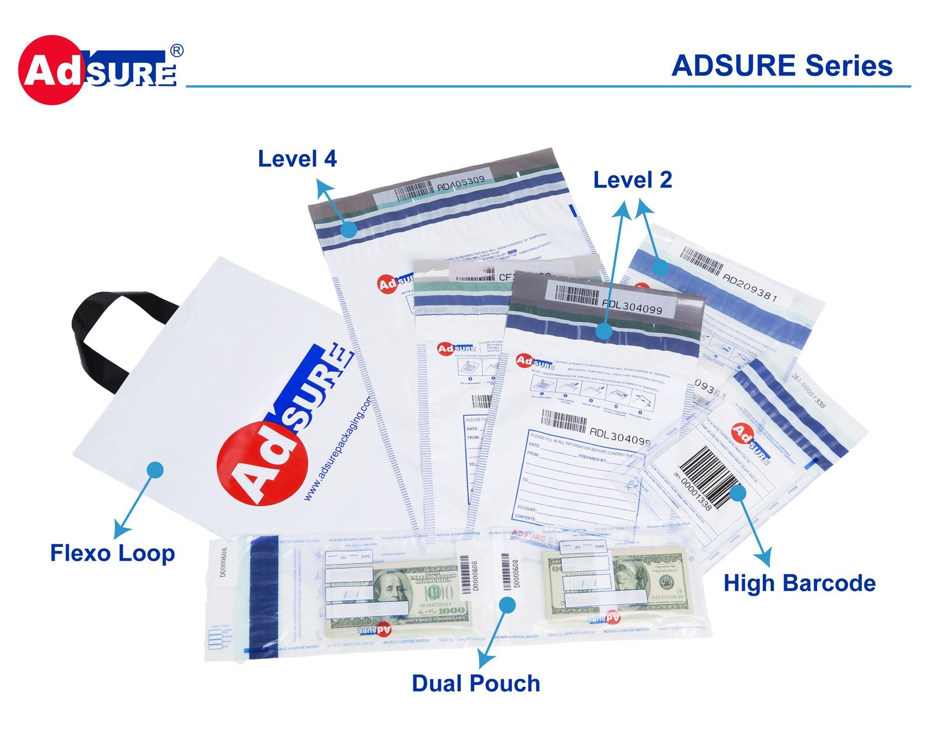ADSURE series security evident bags