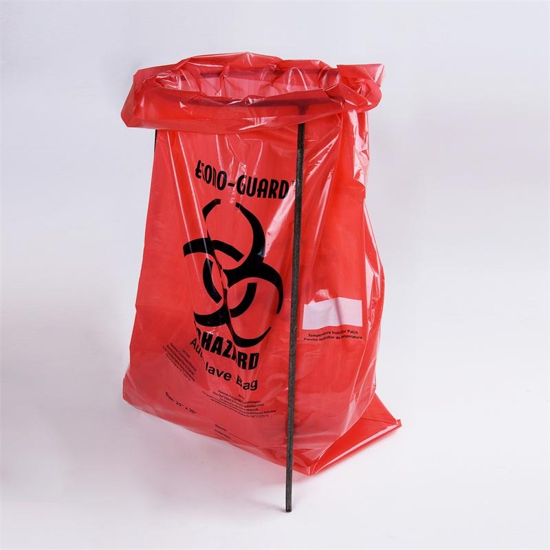 Red Autoclavable Polypropylene Plastic Biohazard Bags
