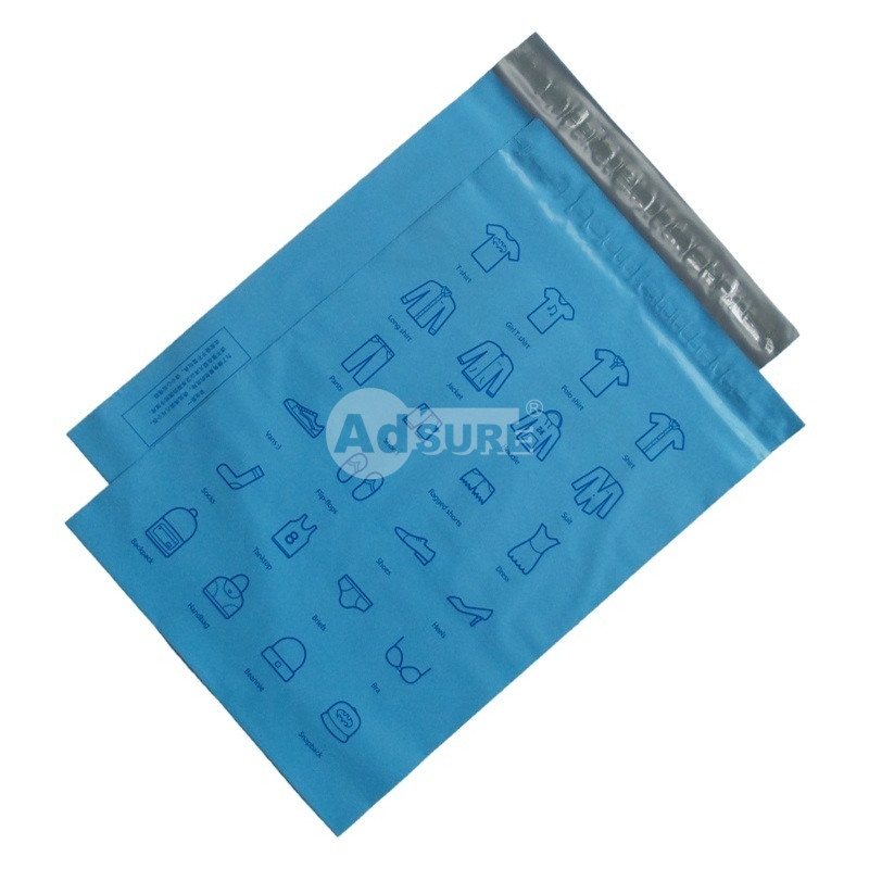 blue colored poly mailers for oline stores and ecomerce