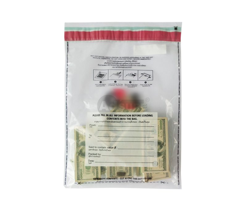 Plastic Security Bags for Cash Money Transfer