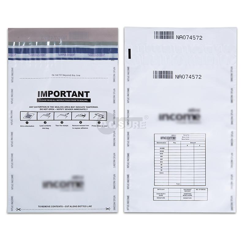 Custom Opaque CIT Security Cash Deposit Bags