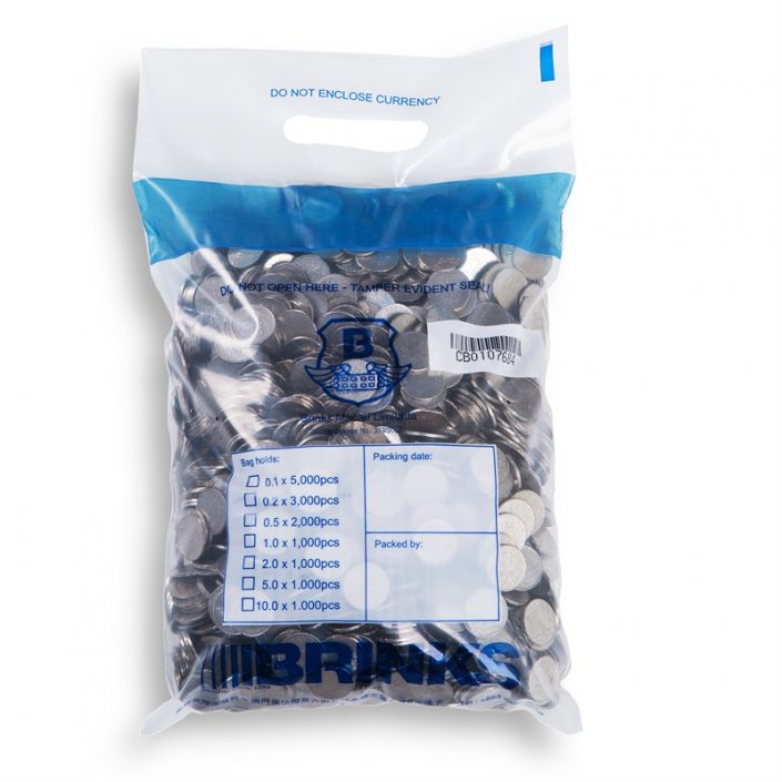 Heavy Duty Clear Tamper Evident Coin Security Deposit Bags with Handle
