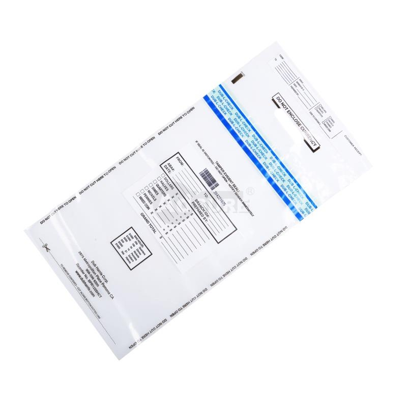 clear security coin deposit bags with handle