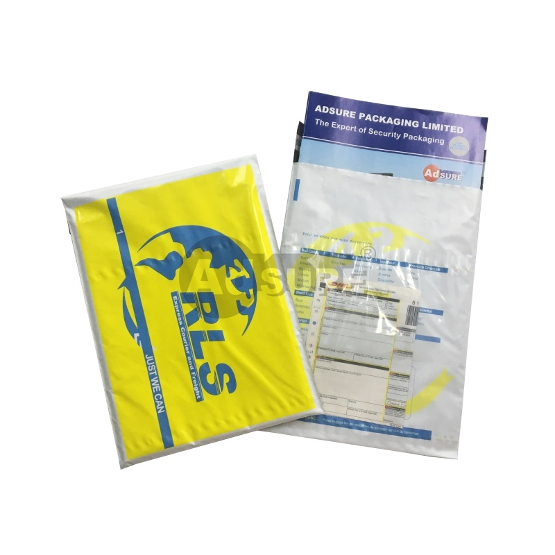 Courier bags with Clear Pouch For Waybill