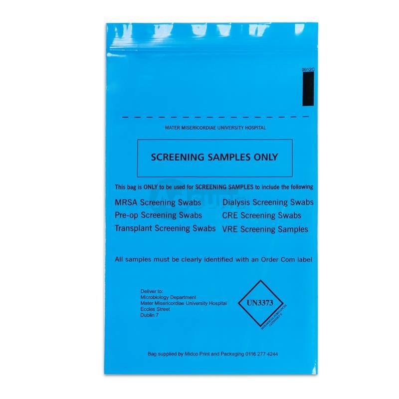 biohazard specimen sample bags