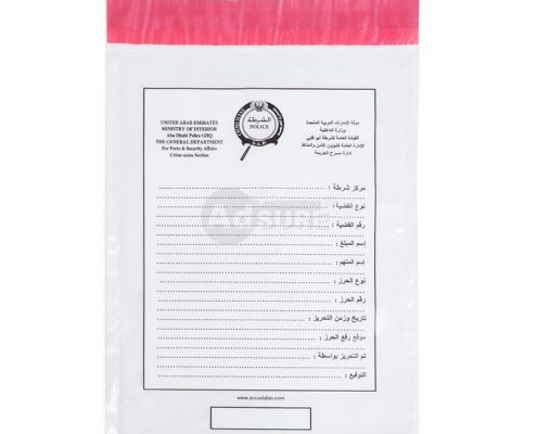 custom plastic security police forensic evidence bags
