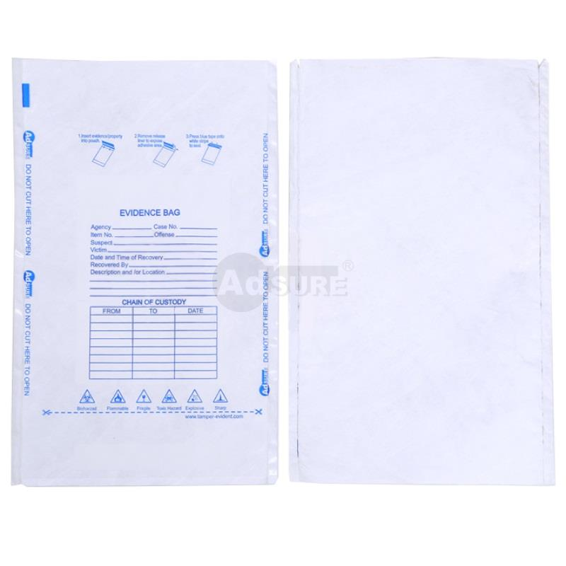 Tyvek breathable forensic evidence bags