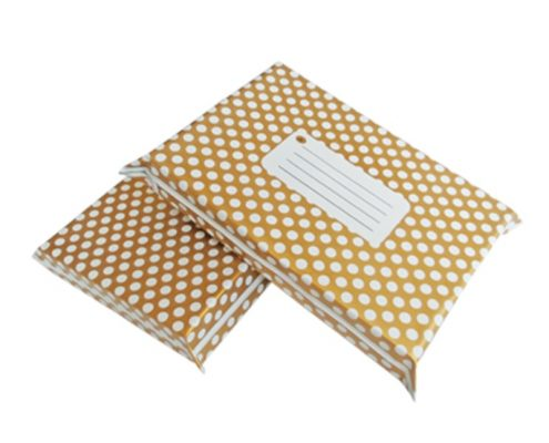 Gold Polka Dot Design Poly Mailers