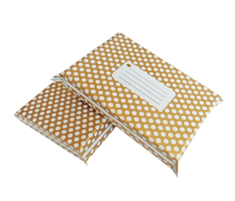 Gold Polka Dot Design Poly Mailers