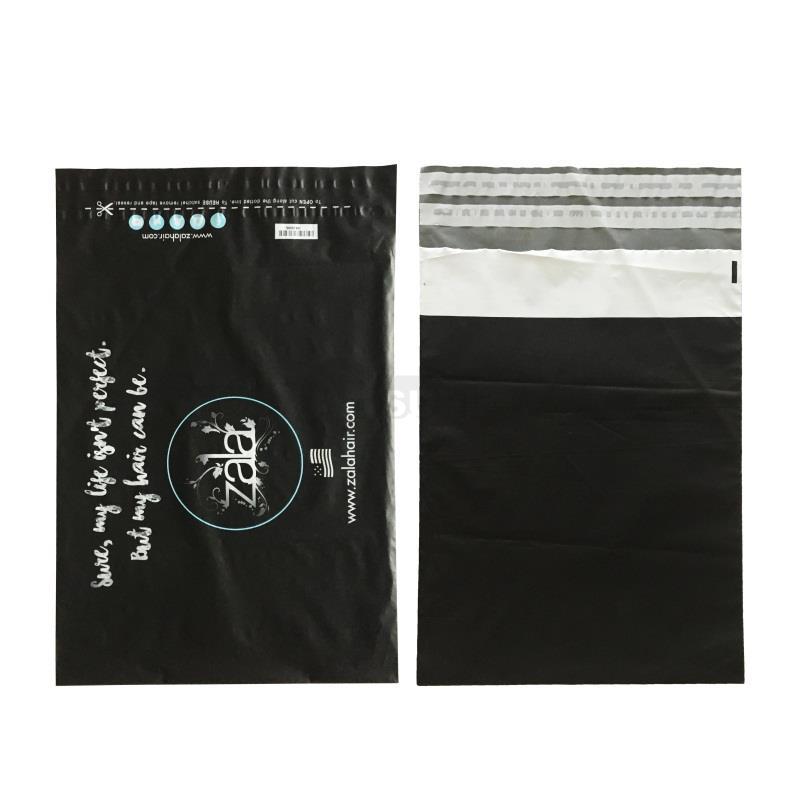 returnable matte black courier satchels