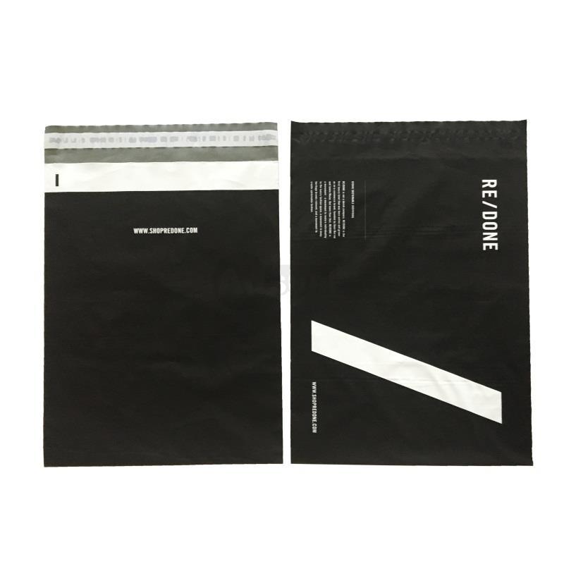 matte black mailing bags