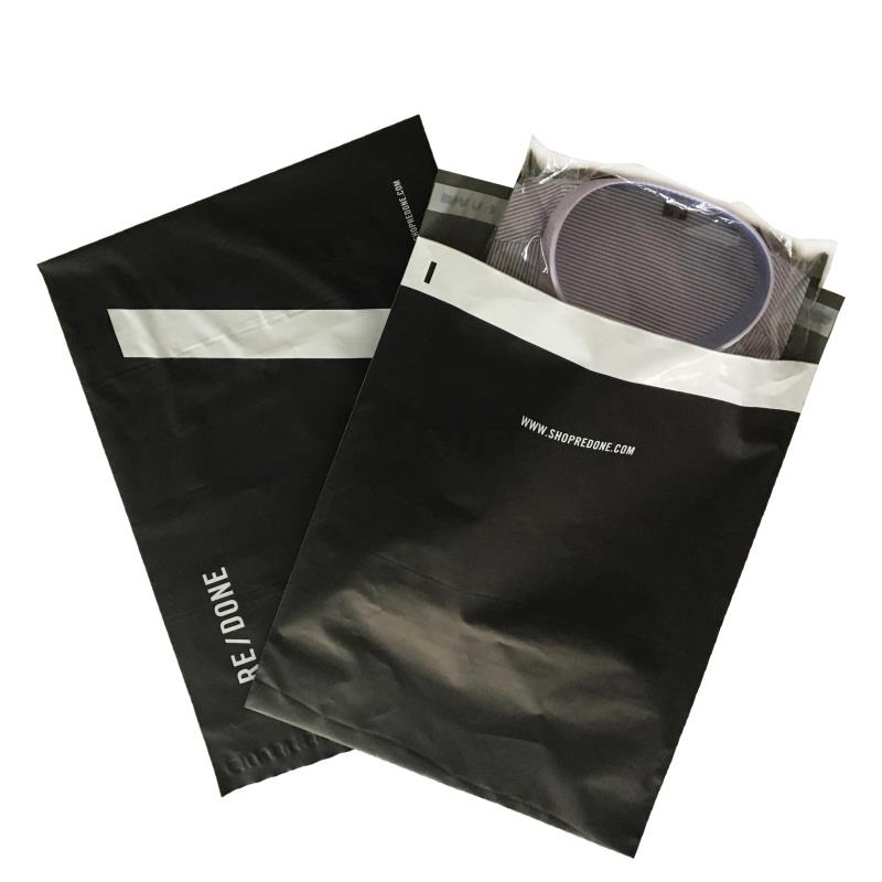 matte black poly mailers