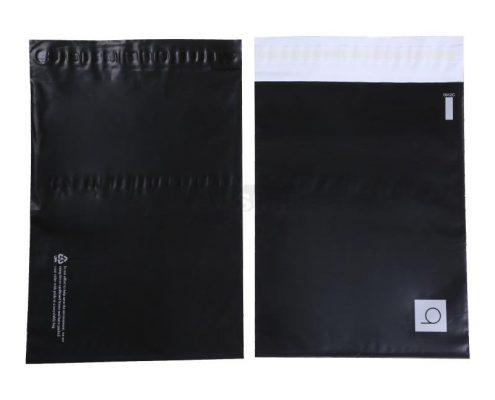 matte black courier bags