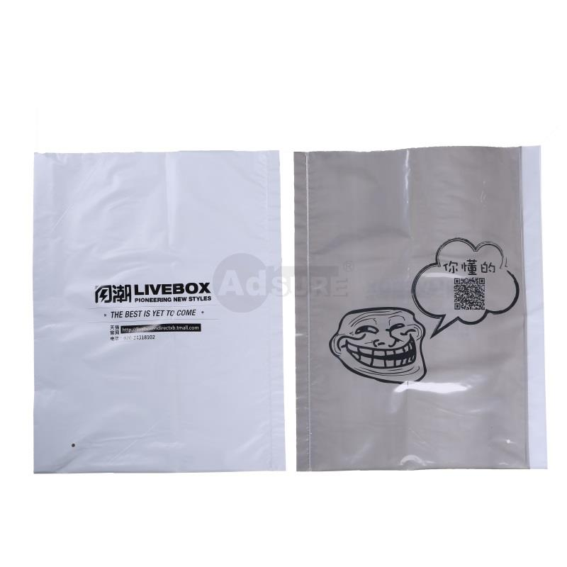 1 side clear 1 side opaque poly bags