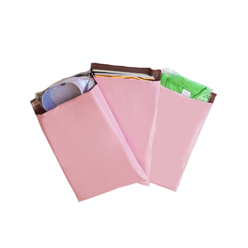 Plain Pink Poly Mailers