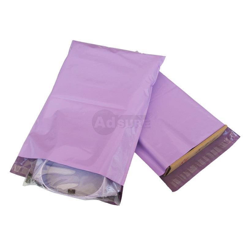 plain purple mailing bags