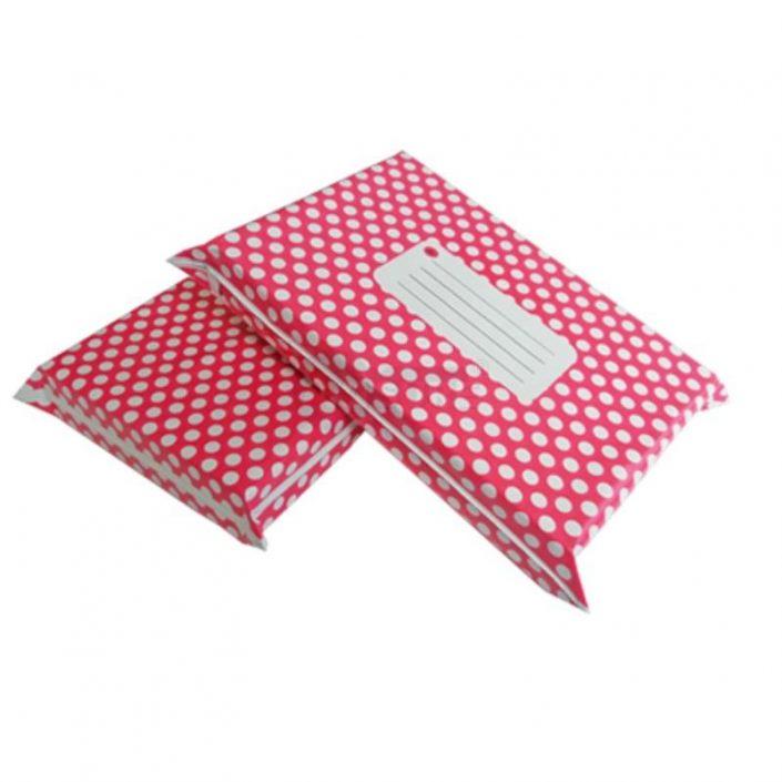 Rose Red Polka Dot Designer Poly Mailers